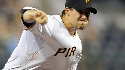 Charlie Morton pitches against the Cubs at PNC Park last season.