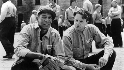 "Morgan Freeman and Tim Robbins in ""The Shawshank Redemption,"" which WPXI anchor David Johnson would watch again and again, anytime."