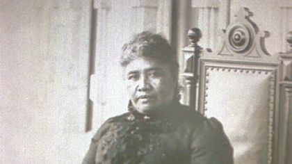 Hawaiian Queen Lili'uokalani, shown in a 1900 photo, was the last reigning monarch in Hawaii when her rule was overthrown by revolutionaries in 1893 to establish an American-dominated provisional government.
