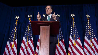 Front-runner Mitt Romney won the Illinois GOP presidential primary with ease ...