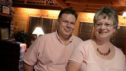 Richard and Amy Russell, delegates for former Pennsylvania Sen. Rick Santorum in his quest for the Republican nomination for president, at their home near Bellevue, Ohio. Their son Ben is the third delegate in their district.
