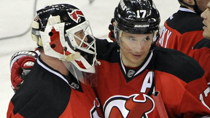 Ilya Kovalchuk, right, goaltender Martin Brodeur and the Devils have had the Penguins' number over the past decade.