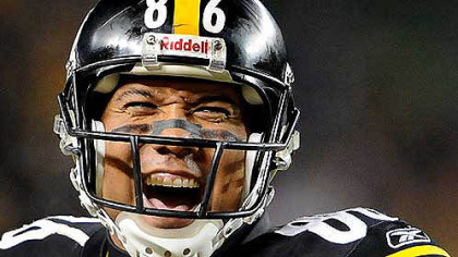 Hines Ward, seen here in a 2009 photo during a game at Heinz Field, today announced he is ending his 14-year career.