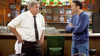 "Former Pittsburgher Steve Byrne, right, stars with Dan Lauria in ""Sullivan and Son,"" a show set in Pittsburgh and premiering on TBS this summer."