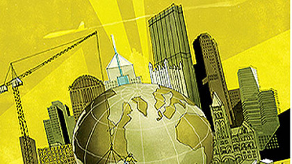 Global Pittsburgh (Detail of illustration)