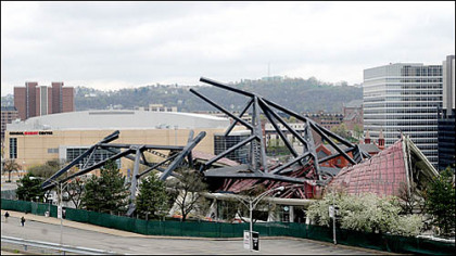 The demolition created a vista from the Hill District that hasn't been seen since the building was constructed in the 1960s.