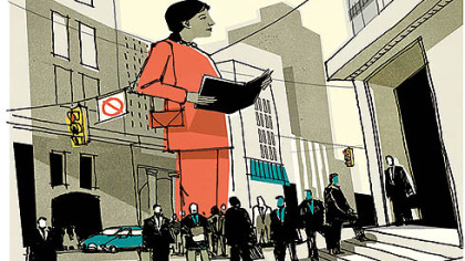 Women business leadership (Detail from illustration)