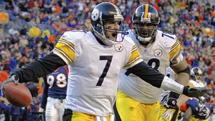 For every Steelers moment of joy in the playoffs, there has been an equal measure of disappointment. The Steelers and Broncos are 3-3 against each other in the postseason. Ben Roethlisberger celebrates a game-clinching 4-yard touchdown run in the 2005 AFC championship game in Denver