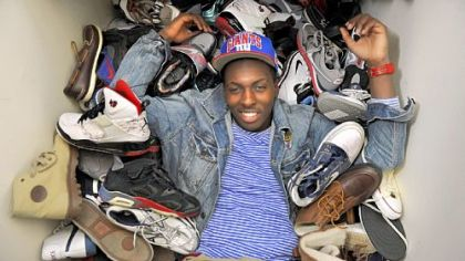 A good pair of sneakers has always been a symbol of success for Tray Woodall. He estimates he owns about 80 pairs, many of which fill the closet in his apartment.