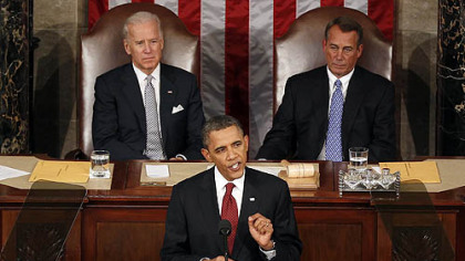 President Barack Obama giving his State of the Union address Tuesday. He endorsed the nation's shale gas development. He also called for companies to disclose the chemicals used in the hydraulic fracturing stage of the drilling process.