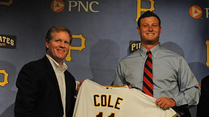 Signing day in August for Gerrit Cole at PNC Park.