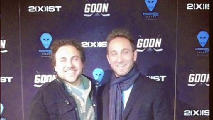 "David Gross and Jesse Shapira at the NYC premiere of ""Goon."""