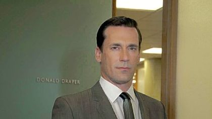 Mr. Hamm portrays 1960s ad man Don Draper in &quot;Mad Men,&quot; which begins its fifth season Sunday on AMC.