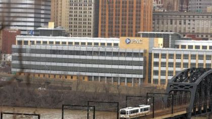 PNC Financial Services Group Inc. ranks No. 8 as the only company among the region's top 10 largest public companies actually based in Pittsburgh.