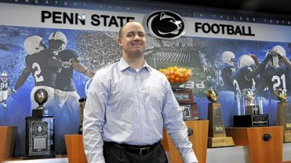 Bill O&#039;Brien on Tuesday in the Penn State football offices.