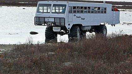 A tundra buggy near Churchill, Manitoba.