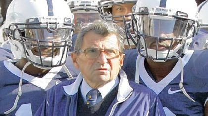 Joe Paterno was a folk hero for most of his time at Penn State, where the Creamery, the famed ice cream shop, introduced a popular flavor, Peachy Paterno. Stores also sold a life-size cardboard cutout of his likeness.