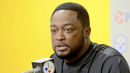Steelers coach Mike Tomlin.
