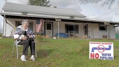 "Martha Losey from Dimock, Pa., is featured in ""FrackNation."""