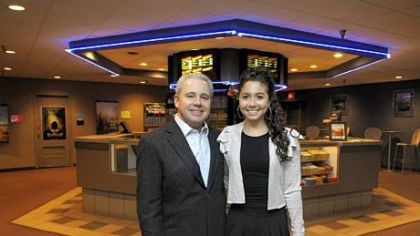 "Rick Stern and his daughter Alexa, owners of the Manor Theater in Squirrel Hill -- ""It's time to make some changes."""
