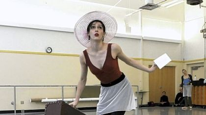 "Eva Trapp rehearses her role as Blanche in the Pittsburgh Ballet's production of ""A Streetcar Named Desire."""