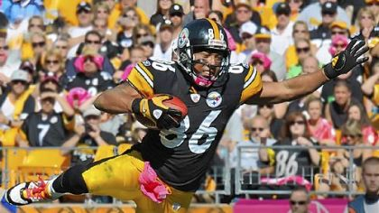Hines Ward became the 19th player in NFL history to surpass 12,000 receiving yards in his career.