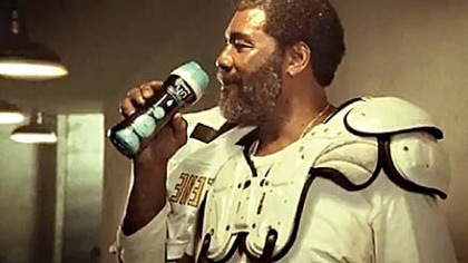 Steelers great Joe Greene makes a comeback with another Super Bowl commercial. This time, the Coke bottle is replaced with a container of Downy Unstopables laundry product.