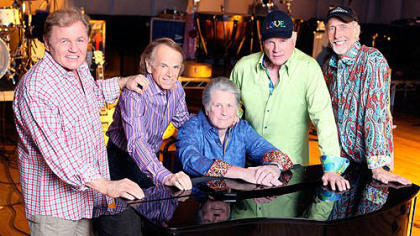 The 2012 Beach Boys: From left, Bruce Johnston, Al Jardine, Brian Wilson, Mike Love and David Marks.
