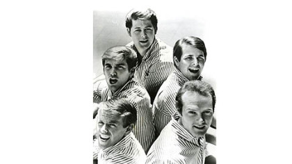 1966 Beach Boys: Brian Wilson, top, stayed in the background while brothers Dennis and Carl, middle, and Al Jardine and Mike Love were on the road playing the hits.