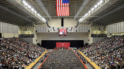The 174th commencement ceremony for California University of Pennsylvania was held at the new Convocation Center today for undergraduates.
