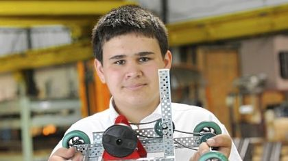 Robert Vaerewyck, 16, of Millerstown,` will demonstrate his model vehicle powered by pavement heat at the Intel International Science and Engineering Fair this week.