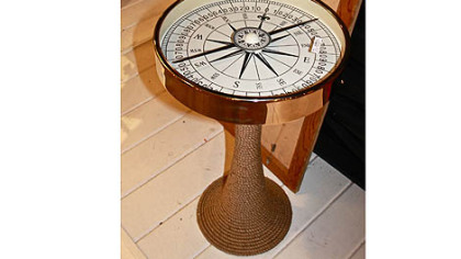 Working compass table by Dransfield & Ross for Tozai Home.