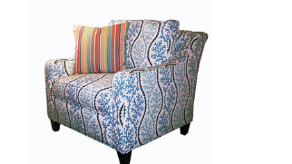 Whitney Chair by Lilly Pulitzer Home in a Splendor Pacific fabric.  It retails for $2448.