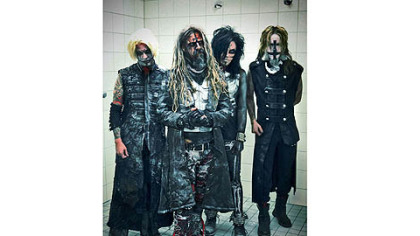 Members of Rob Zombie, from left: John 5, Rob Zombie, Piggy D and Ginger Fish.