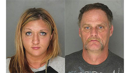 Rachel George (left) and her father Christopher George face multiple charges after an incident at PNC Park on Saturday.