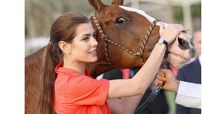 Charlotte Casiraghi at the Cartier International Dubai Polo Challenge on Feb. 24.