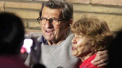 Sue Paterno will receive $10.1 million of her husband's $13.4 million pension by the end of May.