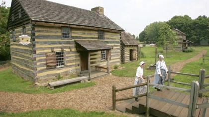 American Revolution era cabin in Historic Hanna?s Town.