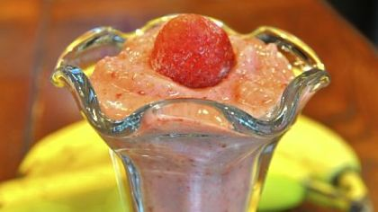 Chia Strawberry-Banana Sorbet