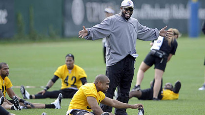 An animated Mike Tomlin seems ready to get to work on the first day of organized team activity Tuesday morning.