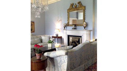 A sitting room at the U.S. Ambassador's residence in Phoenix Park, Dublin.