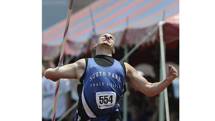 Bill Stanley of South Park broke the national prep record in the javelin by more than 2 feet Saturday.