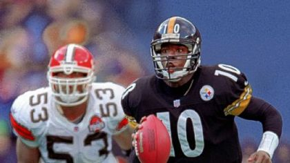 Kordell Stewart in a game against Cleveland in 1999 at Three Rivers Stadium.