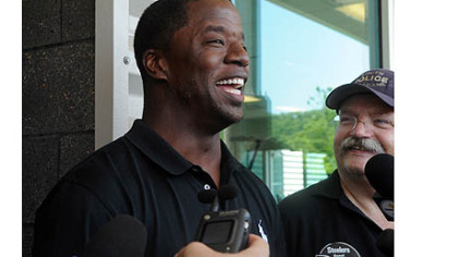 Former Steelers quarterback Kordell Stewart talks to the media during a press conference to announce his retirement from football as a Steeler.