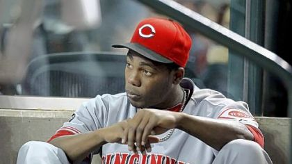 Cincinnati Reds pitcher Aroldis Chapman was at PNC Park on Tuesday night when a woman who was staying with him reported a robbery at his hotel room.