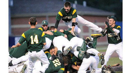 Blackhawk celebrates after beating Belle Vernon 1-0 in the WPIAL AAA baseball championship.