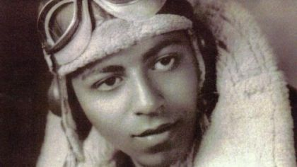 Dr. Harry Lanauze of Mc-Keesport during his days as a Tuskegee pilot.