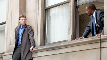 "Sam Worthington plays a disgraced cop on the edge in ""Man on a Ledge."""