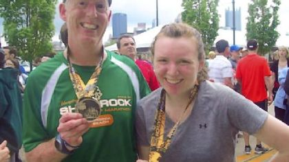 Mike Lloyd and Colleen Lloyd ran the 2011 Pittsburgh Marathon.