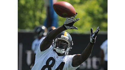 There might be two Steelers receivers in holdout mode next spring as Antonio Brown, pictured, and Emmanuel Sanders will be in the same contract position Mike Wallace is in now.
